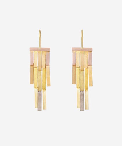 The Garnered - Sia Taylor Gold Rainfall Earring The Garnered Thumbnail
