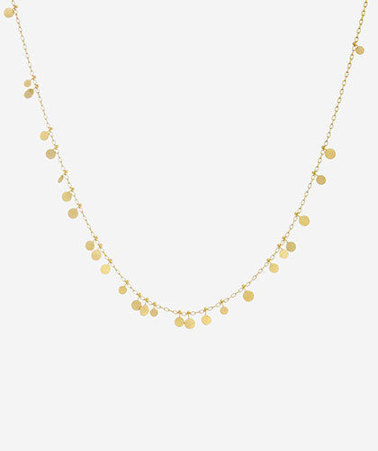 The Garnered - Sia Taylor Gold Random Dots Necklace The Garnered Thumbnail