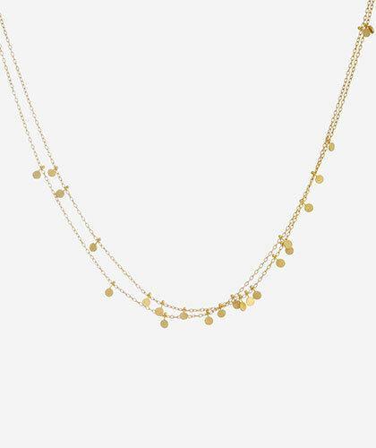 The Garnered - Sia Taylor Gold Tiny Dots Double Chain Necklace The Garnered Thumbnail