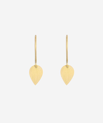 The Garnered - Sia Taylor Gold Tiny Petal Earring Front The Garnered Thumbnail