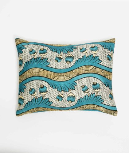 The Garnered - Blue Yellow Small Cushion Antoinette Poisson The Garnered 002