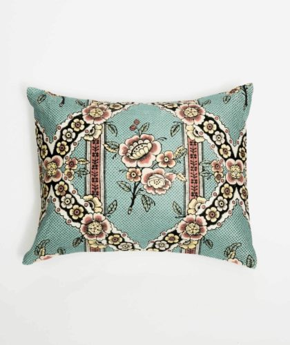 The Garnered - Turqoise Flower Small Cushion Antoinette Poisson The Garnered 005